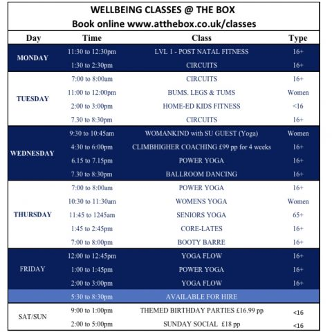 OUR NEW TIMETABLE IS OUT NOW!