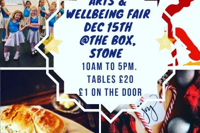 Xmas Arts & Wellbeing Fair is the 21st December!